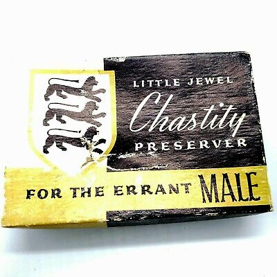 Vintage Little Jewel Chastity Preserver For the Errant Male Gag Gift Idea Funny!