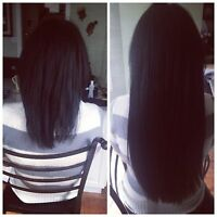 Micro ring/hot fusion hair extensions $365