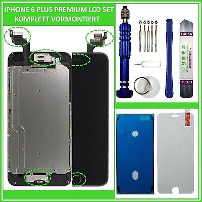LCD Display für iPhone 6 PLUS KOMPLETT VORMONTIERT Touch Screen Front Schwarz
