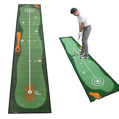 Golf Putting Practice Mat Indoor Green Fairway Exerciser Cushion 118*19inch Pad