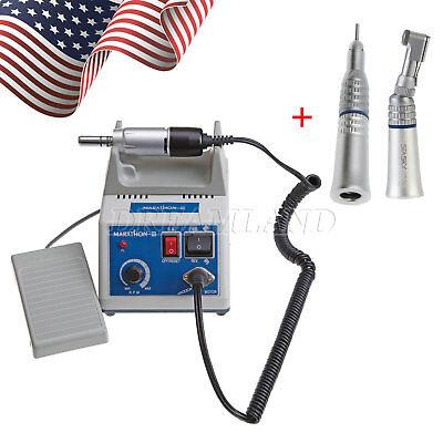 Dental Lab Marathon Micromotor Electric Straight Handpiece Contra Angle Polisher