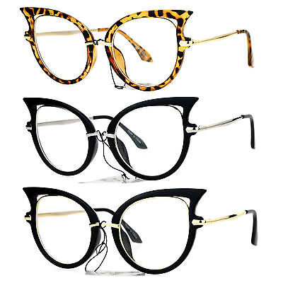 SA106 Womens Bat Wing Shape Cat Eye Clear Lens Eye (Winged Cat Eye Glasses)