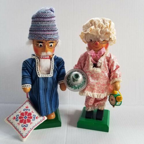 Vintage STEINBACH West Germany Nutcrackers - Grandma & Grandpa - 11.5in Tall