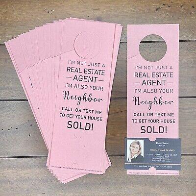 Real Estate Agent Door Hanger Marketing Business Card - Im Your Neighbor