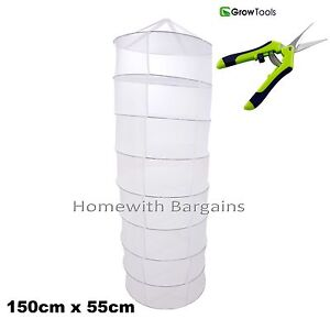 8 Tier Section Bud, Herb Drying Rack, Net + Precision Trimming Cutting Scissors