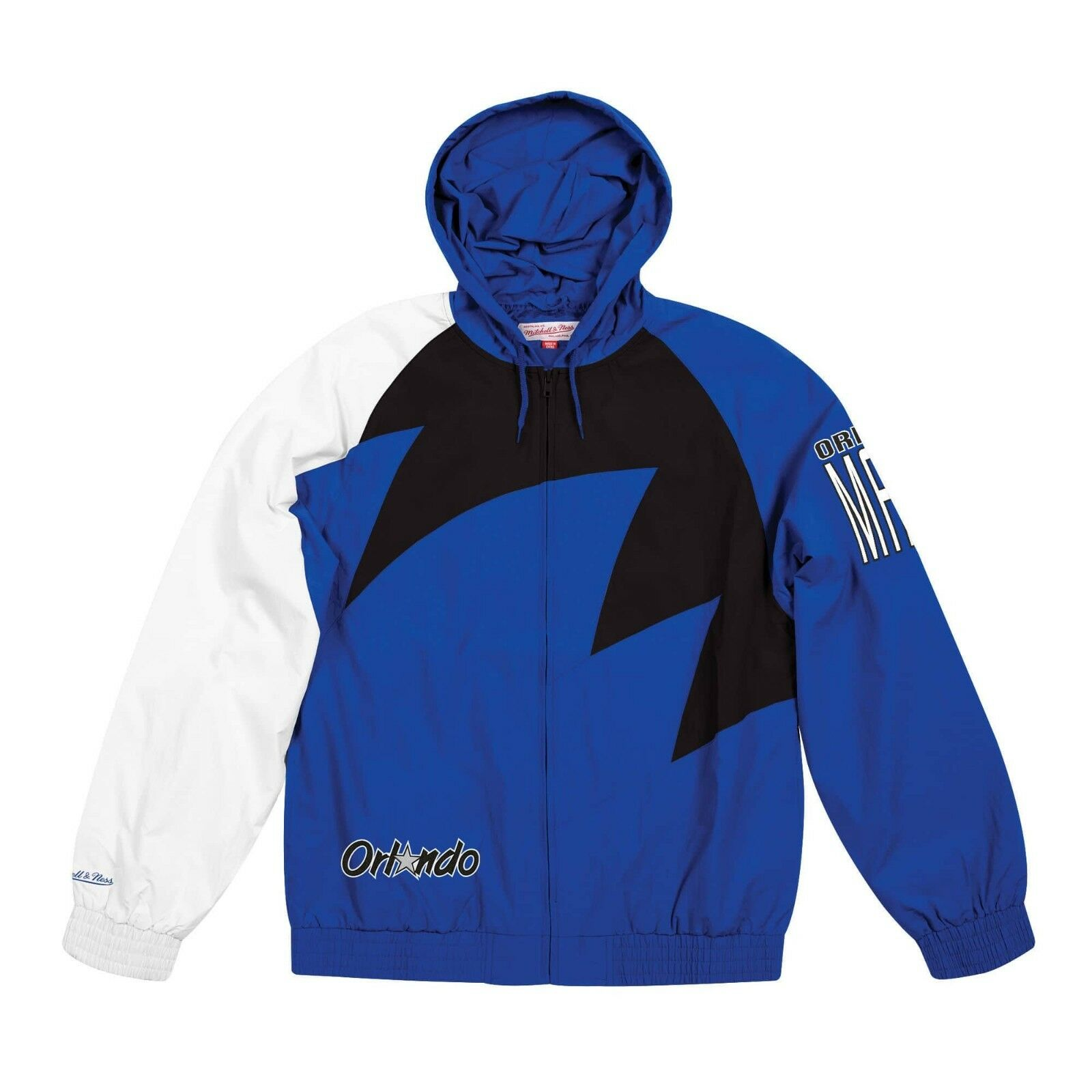 Details about Authentic NBA Orlando Magic Mitchell   Ness Shark Tooth  Full-Zip Jacket f84e6db00c0f
