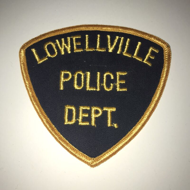 Vintage Lowellville Ohio Police Dept Patch Cheesecloth