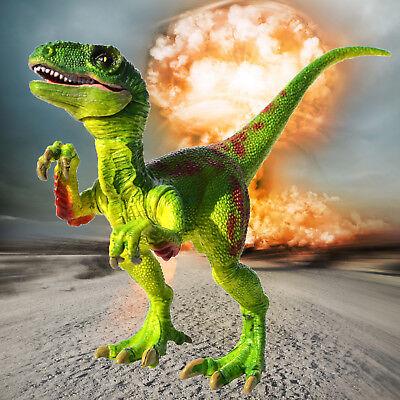 Green Velociraptor Raptor Dinosaur Toy Action Figure Educational Model Kids Gift - Green Dinosaur