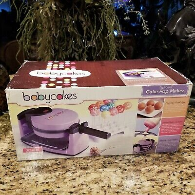 NEW Babycakes Flip Over Cake Pop Maker Purple with Manuals and Accessories](Pop Cake Accessories)