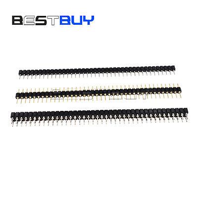 Pin Header Socket 2.54mm 40pin Round Singledouble Row Malefemale Straight Bbc