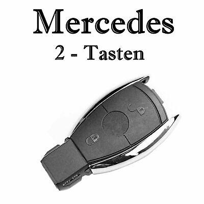 1x Autoschlüssel Chrom Gehäuse für Mercedes 2-Tasten Infra Fernbedienung KS18CNO