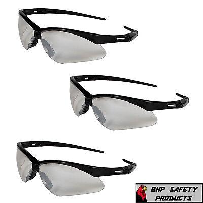 3 Pair Kleenguard Nemesis Safety Glasses Indooroutdoor Mirror Black Frame 25685