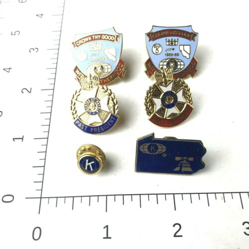 Kiwanis International Lot Of 6 Pins Past Presidents Vintage Brotherhood Bell