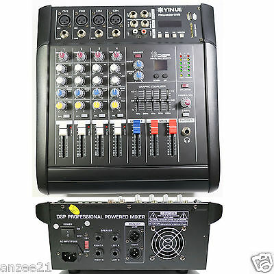 Used, Pro 4 Channel Stage Karaoke Live Mixing console 800W Power Amplifier Mixer for sale  Shipping to Canada