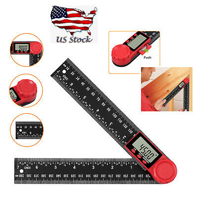 Digital Angle Finder Ruler Lcd 8-inch Protractor Measure Tools 200mm Angle Gauge