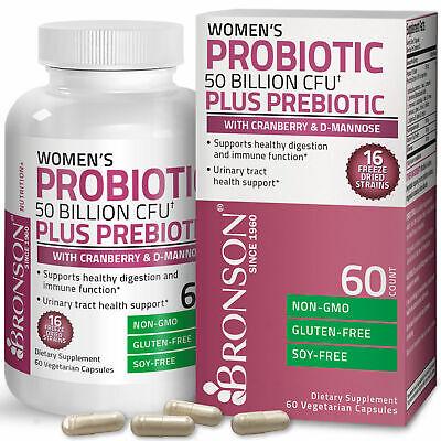 Women's Probiotic 50 Billion CFU Plus Prebiotic Digestive 60