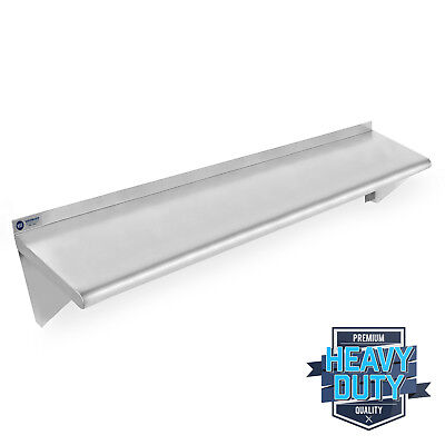 Stainless Steel Commercial Kitchen Wall Shelf Restaurant Shelving - 12 X 48