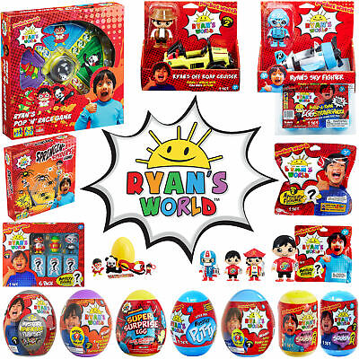 Ryan's World - licensed Ryans World toys - Pop n Race, Mystery Eggs, Figures etc