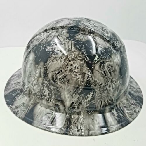 NEW FULL BRIM Hard Hat custom hydro dipped  PIRATE SKULLS FROM THE GRAVE  1