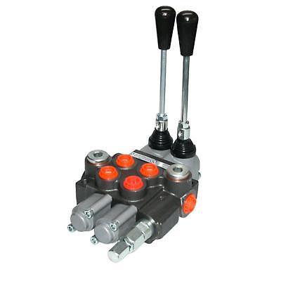 Handsteuer Hydraulikventil 40L für doppelwirkende Zylinder mit 1 bis 7 Hebeln