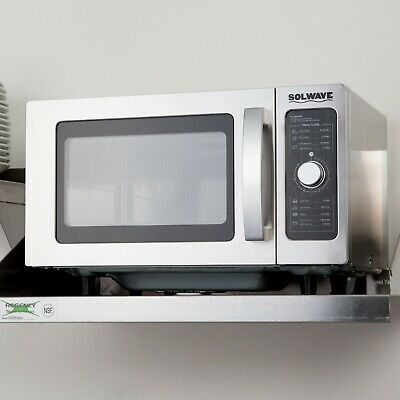 Solwave Stainless Steel Commercial Microwave With Dial Control - 120v 1000w