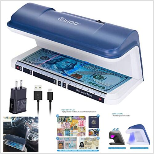 Money Detector Uv Portable Counterfeit Scanner Fake Cash Checker Machine Tester
