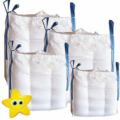 10 x 1 Ton  Bulk Bag Builders Rubble Sack FIBC  Tonne Jumbo Waste Storage