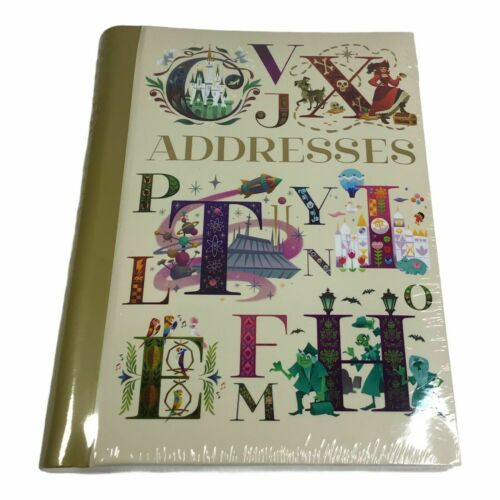 NEW Disney Parks ABC Letters Characters Rides Theme Park Address Book