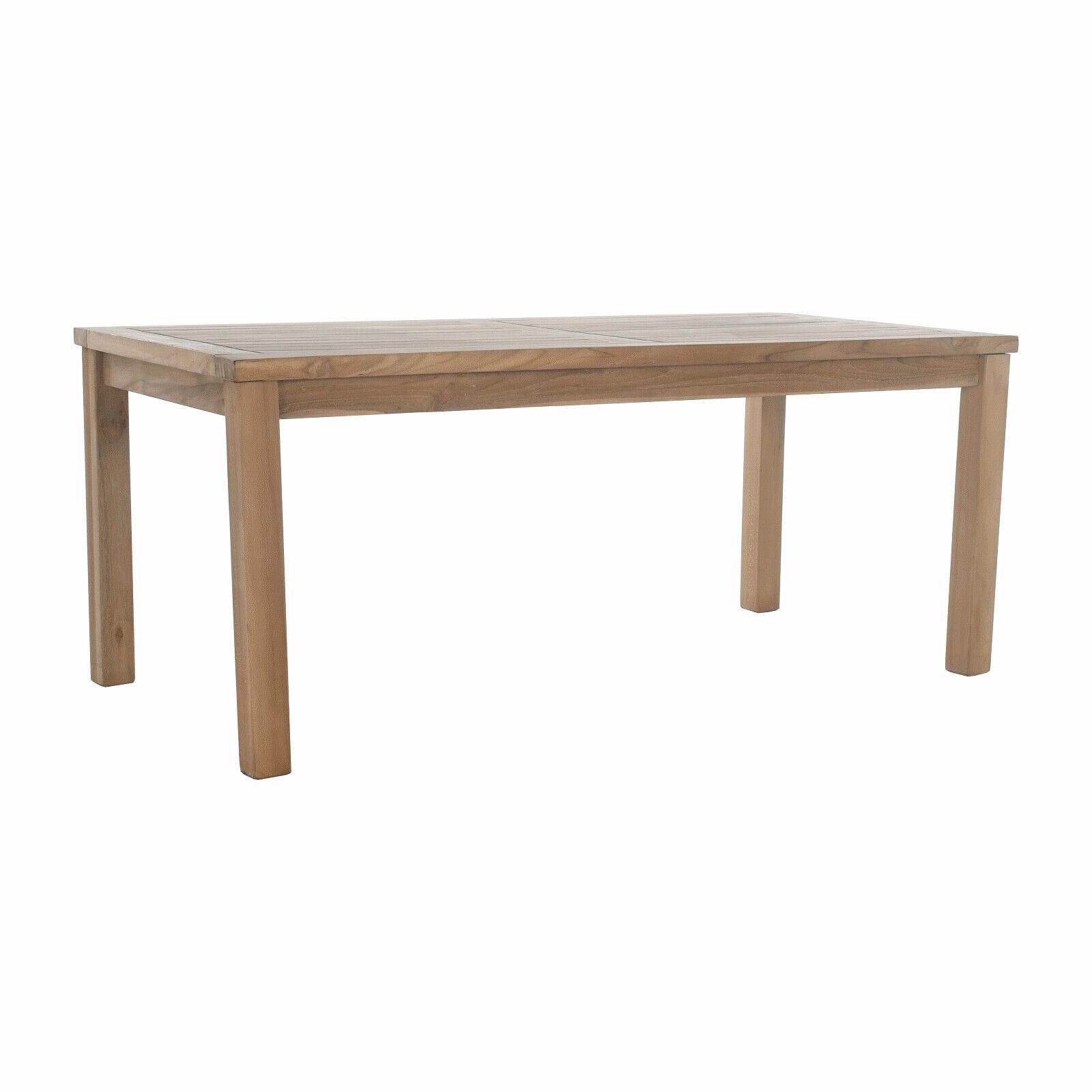 Beistelltisch Gartentisch aus massivem Teak Holz - 60x120 cm