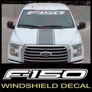 FORD F-150 Windshield Window Vinyl Decal Sticker Outline Vehicle Logo WHITE 40
