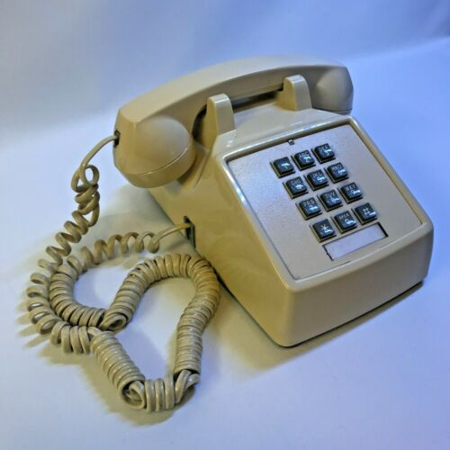 Vintage Premier HAC 2500 Beige Push Button Home Desk Phone 250009-MBA-20M-H