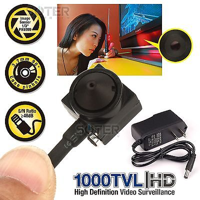 Micro Mini Hidden 1000Tvl Audio Spy Cctv Bnc Hd Small Camera With Power Supply