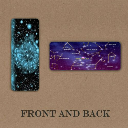 BOOKMARK GALAXY AND CONSTELLATION OUTER SPACE LAMINATED