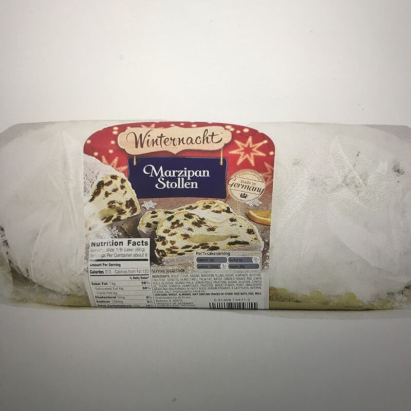❤️VALUE 2 PACK *** HOLIDAY Winternacht MARZIPAN STOLLEN Made in Germany 26.4 oz
