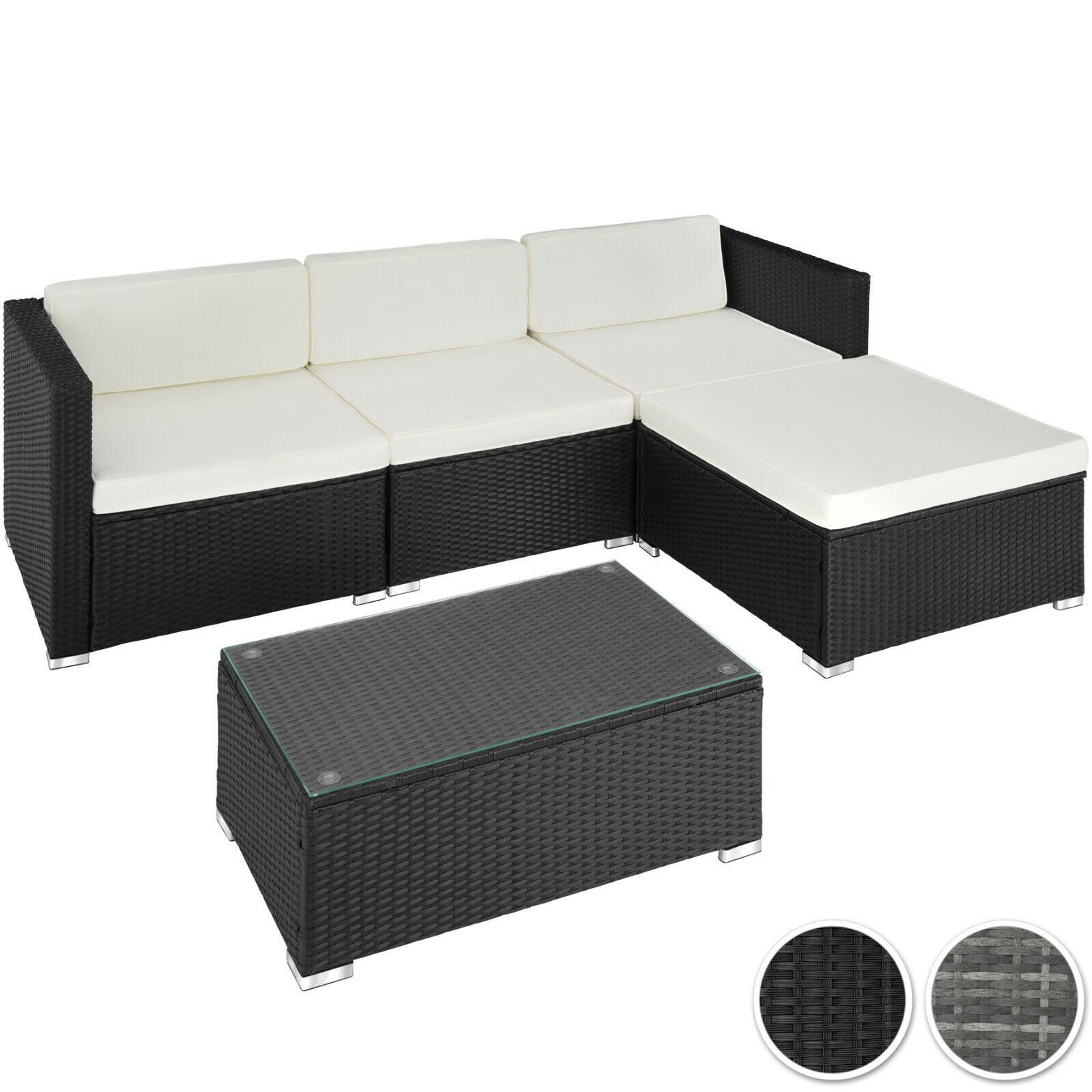Polyrattan Gartenmöbel Sitzgruppe Rattan Garnitur Gartenset Lounge Sofa Tisch