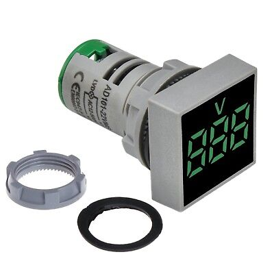 Panel Mount Square Display Digital Voltmeter Ac 20 500v Led Display Grren