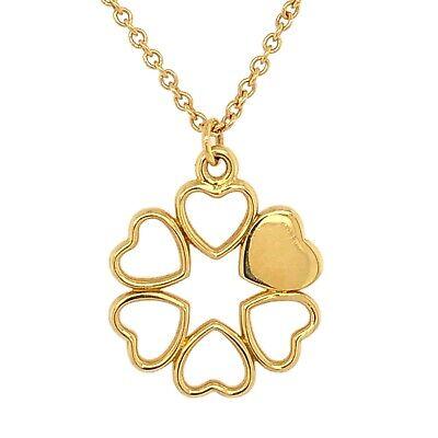 TIFFANY & Co. PENDANT 18K Yellow Gold Heart 16