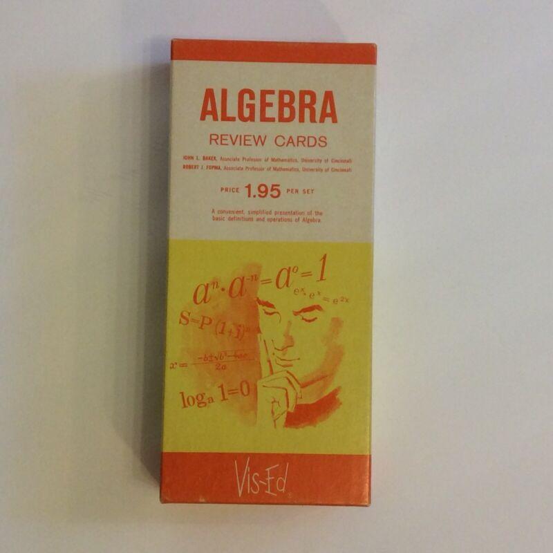 Vis-Ed Visual Education Algebra Review Cards 598 Cards