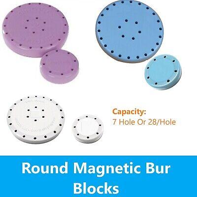 Magnetic Round Dental Lab Bur Block Holder Station Choose Color And Size
