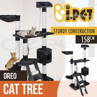 Cat Scratching Post Tree Gym House Scratcher Pole 158cm New