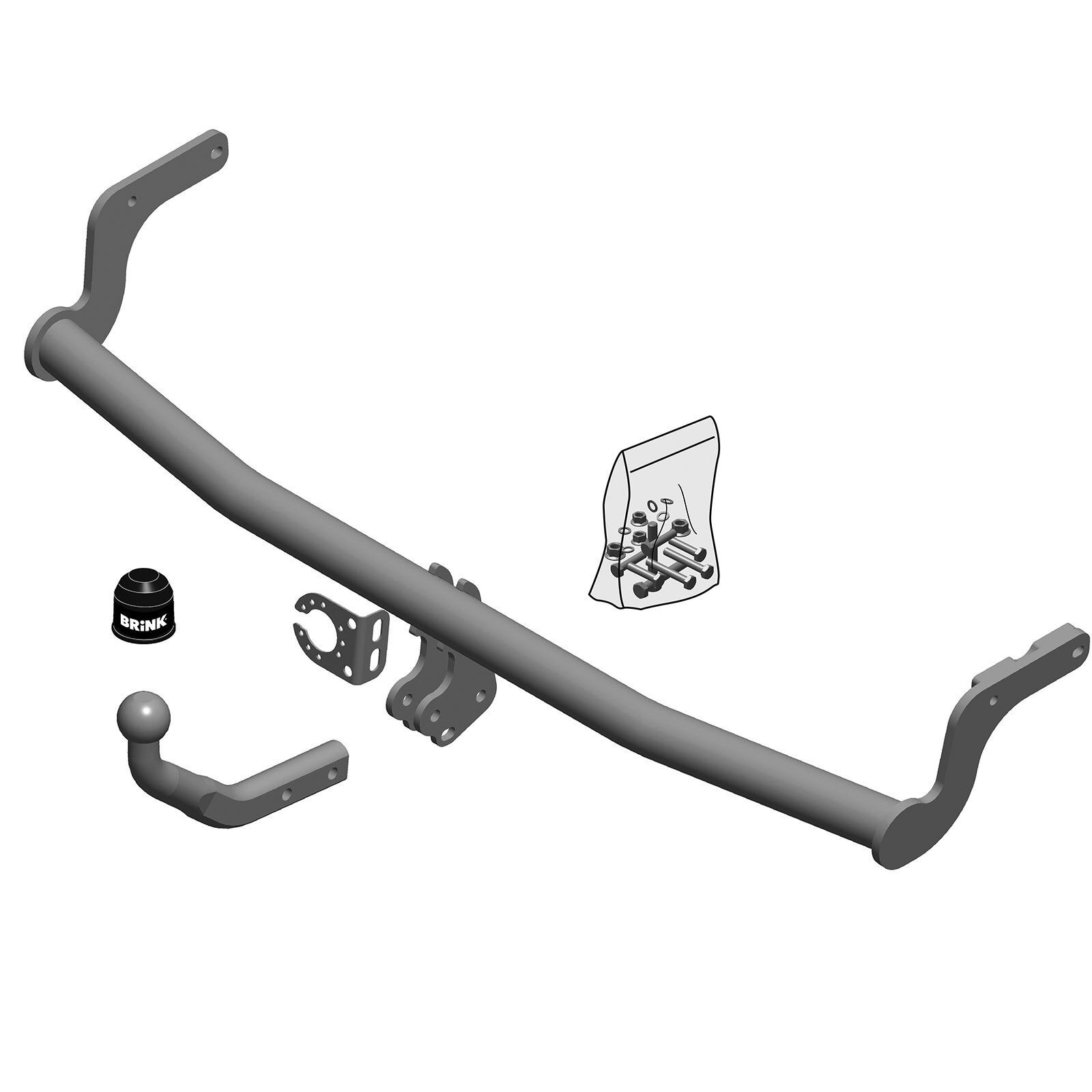 Swan Neck Tow Bar Brink Towbar for Seat Leon Estate ST 2017 Onwards