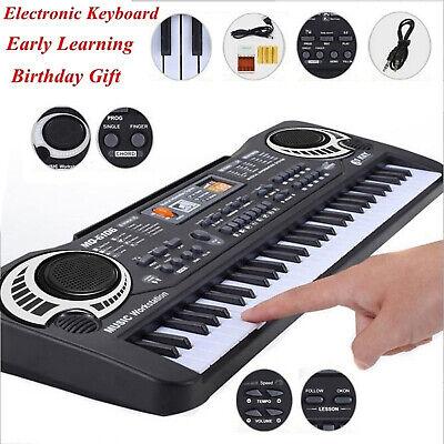 61 Teclado Negro Música Digital Teclado Electrónico Teclas Piano Eléctrico A1P0