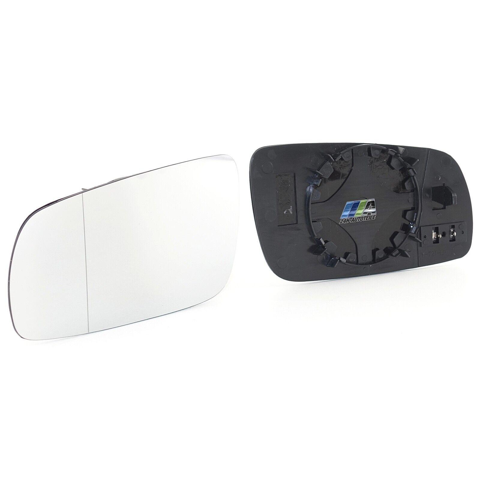 Spiegelglas Außenspiegel heizbar Rechts 125*100mm paßt für VW LUPO 00-