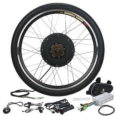 """48V 1000W Electric Bicycle Conversion Kit Motor Hub E Bike 26"""" Rear Wheel"""