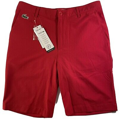 Lacoste Sport Golf Pantalones Cortos - FH9524 Chino - Red Size 38