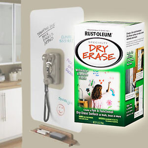 rustoleum rust oleum dry erase whiteboard painting kit white. Black Bedroom Furniture Sets. Home Design Ideas