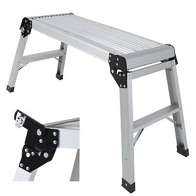 Aluminum Platform Step Up Stool Nonslip Folding Work Bench Drywall Stool Ladder