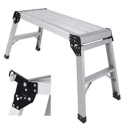 Aluminum Platform Step Up Stool NonSlip Folding Work Bench Drywall Stool Ladder