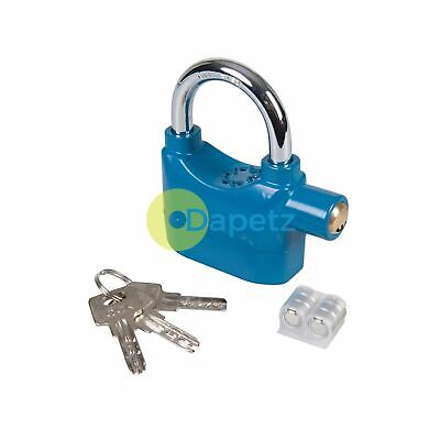 Alarm Padlock With Chrome Plated Shackle And Powder Coated Body 70mm