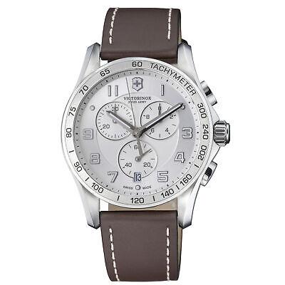 Victorinox Chrono Classic Quartz Movement Silver Dial Men's Watch 241654.2